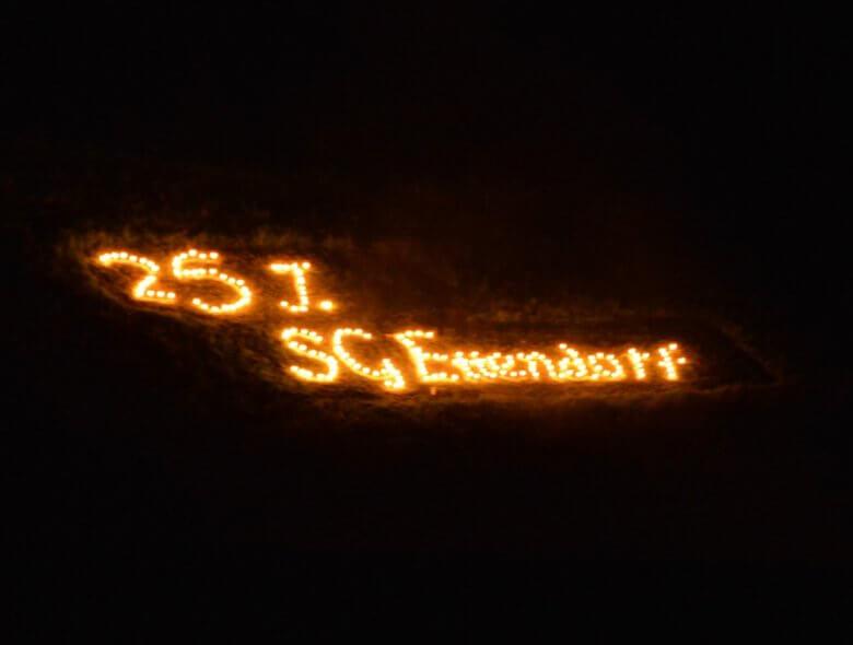 Schriftzug 25 Jahre SG Ettendorf
